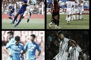Tigre, Patronato, Belgrano y SMSJ: solo uno seguirá en la Superliga (Fotomontaje).