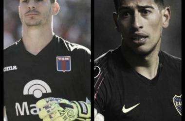 Marinelli vs Andrada. Fotomontaje.