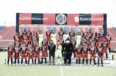 Director técnico, plantel masculino y femenino.de San Lorenzo versión 2019. Foto: San Lorenzo