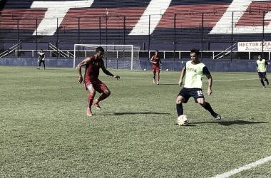 El lateral Lucas Rodríguez en la banda izquierda (Foto: Prensa Tigre