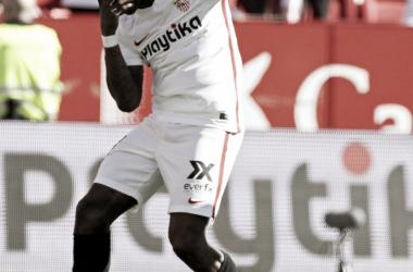 Promes celebra su primer gol en la Liga   Foto: LaLiga