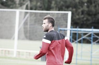Alfredo Ortuño en su primer entrenamiento // Imagen: Twitter (@EXT_UD)