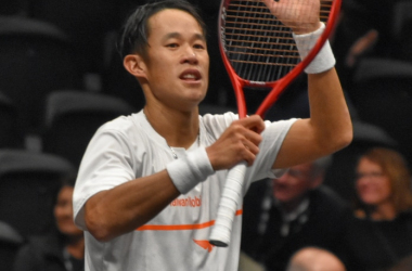 Jung acknowledges the crowd after his upset victory/Photo: John Lupo/VAVEL UK
