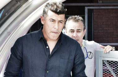 Almirón todavía no sabe lo que es cantar victoria con San Lorenzo. Foto: Diario Olé