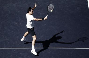 Roger Federer ganó y está 4tos. Foto: BNP Paribas Open