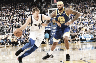Luka Docic la rompió con un triple-doble frente a Warriors. Foto: NBA