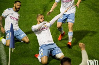 Celebración de Verdasca en el primer gol | Foto: Andrea Royo (VAVEL)