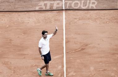 Guido Pella ganó su sexto partido en fila en polvo de ladrillo. Foto ATP