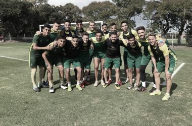 Los jugadores de Defensa en el entrenamiento previo al choque de Copa Argentina. Foto: Defensa y Justicia Twitter