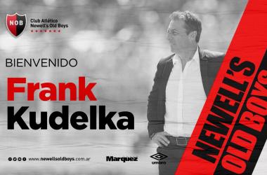 Newell's le da la bienvenida al nuevo entrenador || Foto: Twitter oficial