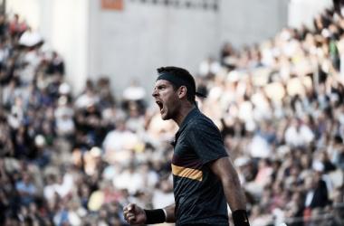 Luchó pero no le alcanzó a Del Potro. Foto: Roland Garros