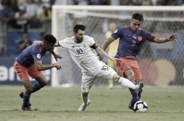 Foto: La Capital / Colombia venció 2x1 a la Argentina de Messi.