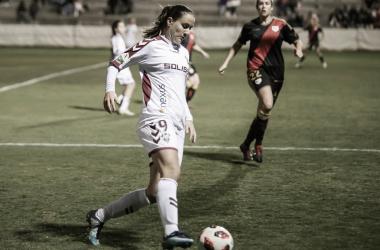 Sladjana disputando un partido frente al Rayo Vallecano la pasada temporada.   Foto: Rayo Vallecano S.A.D.