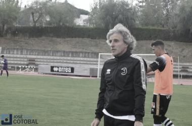 Roberto Aguirre, satisfecho tras ganar. Foto: José Luis Cotobal