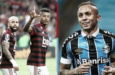 <span>Gabigol e Bruno Henrique, as esperanças de gols do Flamengo (Arte: VAVEL Brasil)</span>