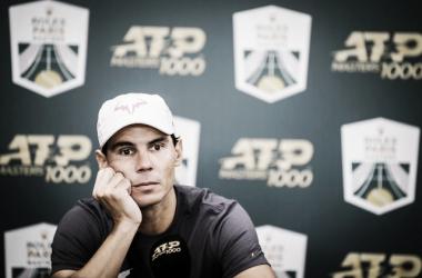 Nadal no pudo salir a jugar. Foto: Rolex Paris Masters