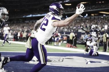 Vikings se llevan la victoria en casa de Cowboys