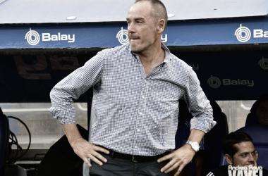 Víctor Fernández durante un encuentro disputado en La Romareda. // Foto: Andrea Royo (VAVEL)