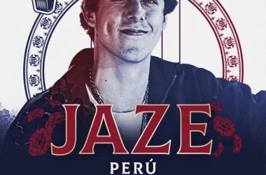 Cartel de la Final Internacional con la imagen de Jaze (foto (sin efecto): Red Bull Batalla De Los Gallos).