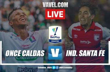 Once Caldas vs Independiente Santa Fe EN VIVO online Liga Betplay 2020-I
