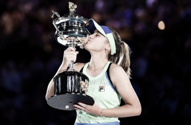 Kenin dio la nota y alzó la copa. Foto: Australian Open
