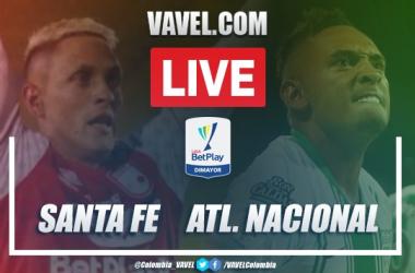 Resumen y goles Santa Fe 2-2 Atlético Nacional en Liga BetPlay 2020