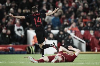 Em jogo de ataque contra defesa, Atleti brilha na prorrogação e vira sobre Liverpool no Anfield