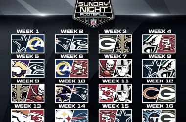 Top 5 juegos Sunday Night Football 2020