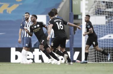 Sterling faz hat-trick, e Manchester City goleia Brighton