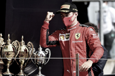 Charles Leclerc admite que pódio caiu no colo e exalta Ferrari na Inglaterra