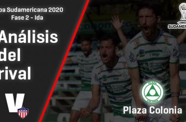 Junior de Barranquilla, análisis del rival: Plaza Colonia (Fase 2 - ida, Sudamericana 2020)