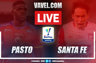 Resumen Pasto vs Santa Fe (1-0) por la ida de los cuartos de final de la Liga BetPlay 2020