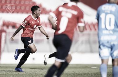 El empate parcial fue marcado por Romero. Fue su primer gol con la casaca del Rey de Copas (Foto: Independiente Oficial).