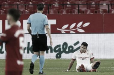 SD Eibar - Sevilla FC: dos principales bajas en los primeros 45 minutos del choque