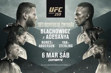 Pôster oficial do UFC 259 (Foto: Divulgação / UFC)