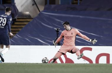 Courtois, uno de los mejores del Real Madrid en Stamford Bridge. |Foto: @realmadrid