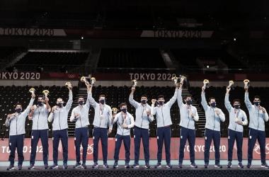 07/08/2021 Argentina se consagra medalla de bronce en Tokio 2020 (FOTO: @Voley_FeVA)