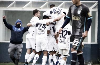 08/08/2021 Triunfo de Gimnasia 1-0 con el golazo de Brahian Alemán (FOTO: Prensa Gimnasia)