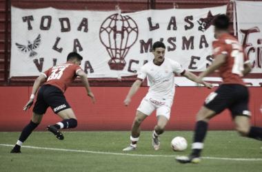 NO PUDO DAR EL BATACAZO. El 'Globo' no pudo con Independiente de local y es su 3er partido perdido en lo que va del torneo. Foto: @CAHuracán.
