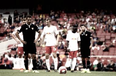 Ben Yedder antes de lanzar el penalti | Foto: Sevilla FC