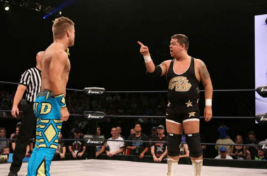 Grado and Rockstar Spud representing Group UK in the TNA World Title Series