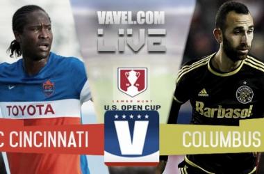 Result and Goals FC Cincinnati 1-0 Columbus Crew SC in 2017 Lamar Hunt US Open Cup