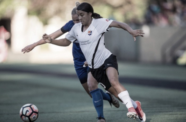 Samantha Kerr (right) scored the equalizer in the 75th minute | Source: Sky Blue FC - Twitter