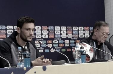 Lloris en conferencia de prensa I Foto: Prensa FIFA