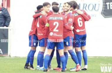 Los jugadores del Praviano celebrando un gol | Foto: Diego Blanco - VAVEL