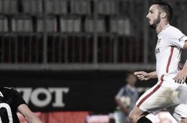 Sarabia Festejando su Gol I Foto: Prensa UEL
