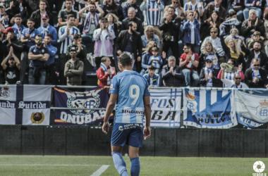 David Grande durante el partido contra el Recreativo de Huelva | Foto: Sergio Ramírez