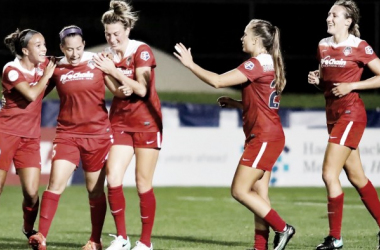 The Washington Spirit spoil Sky Blue FC's playoff hopes, winning 2-1 | Source: Robyn W. McNeil - ISI Photos