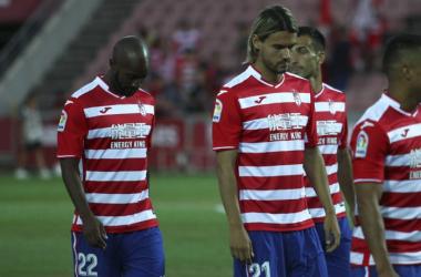 Foulquier, krhin y Saunier durante la presentación del equipo en el Trofeo Ciudad de Granada. | Foto: Antonio L Juárez