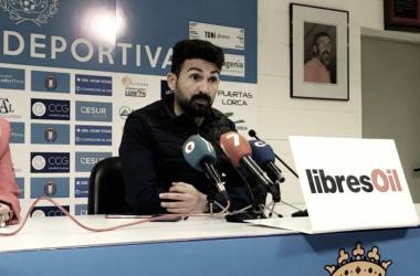 Romo en rueda de prensa | Foto: FC Jumilla